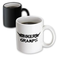 3dRose mug_162544_3 Biker Gramps Grunge Word Art with Black White Flames Funny Old Motorbike Grandfather Motorcycle Magic Transforming Mug 11Ounce -- Read more  at the image link.