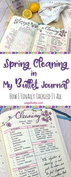 Tackle Spring cleaning with KonMari and your Bullet Journal.