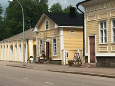 Hamina Finland Wooden Houses, Old Buildings, Old Town, Scenery, Europe, Mansions, House Styles, Places, Outdoor Decor