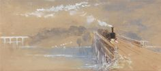 Myles Birket Foster, 1825–1899, British, Rain, Steam and Speed, undated, Watercolor and gouache on medium, slightly textured, cream wove paper, Yale Center for British Art, Paul Mellon Collection