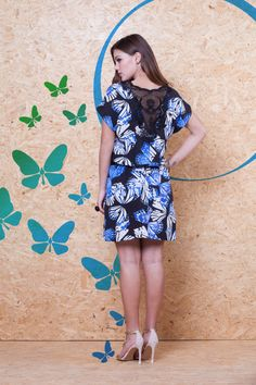 Vestido Estampa Borboleta Guipure Costas VVE 223 #mundoErreErre #lookbook #verao2015 www.erreerre.com.br