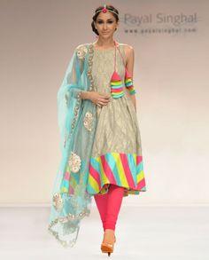 Exclusively.In  Ash Grey Benarsi Suit with Net Dupatta