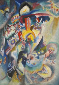 Wassily Kandinsky MOSKAU II (MOSCOW II) oil on canvas 52.8 by 38cm. 20 3/4 by 15in Painted in 1916.