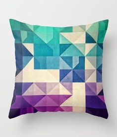 bold graphic pillow cover