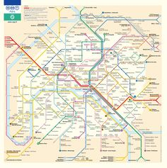 Paris: The Metro map. Seriously, no wonder transit is so much more convenient!