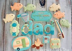 Fishing Father's Day Cookies (Cookie Bliss)