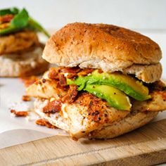 Cajun chicken burgers with lime mayonnaise