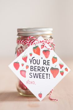 You're Berry Sweet Valentine's Day Printables by @cydconverse