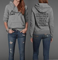 Always Harry Potter Book Movie Title Inspired Pullover Hoodie. I NEED this.