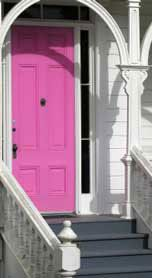 Perfect color for a beach house door!