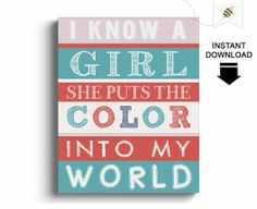 Girls Wall Art by PaperBeeDesigns, $8.00