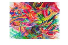 Amazing Abstract Giclée Print #abstractpaintings #art #paintings #pastelpaintings #oilpastel #colorful