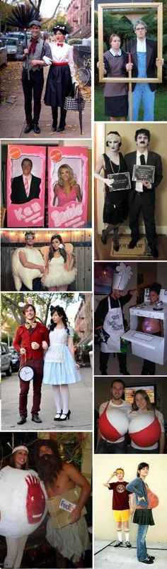 adult costumes  Mary Poppins; American Gothic; Ken & Barbie; Silent Movie; Tooth Fairy; Alice in Wonderland; Bun in the Oven; Bra; Cast Away Wilson (ball); Where's My Basketball? by kaitlin