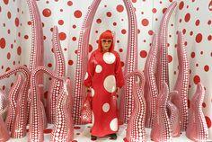 Yayoi Kusama, In Infinity exhibition, at Helsinki Art Museum. Yayoi Kusama, Store Design, Abstract Pattern, Art Museum, Illustrators, Polka Dots, Artsy, Fine Art, Detail