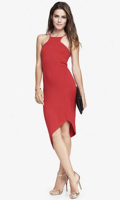 CUT-IN CAMI DRESS | The epitome of city chic, this red hot dress offers the…