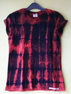 Womens (Small) Vertical stripe - Bleach dye T shirt by FrancescaRoseJ on Etsy