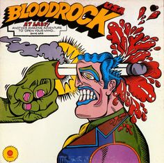 Lockart, album artwork for Bloodrock, Open your mind, 1969. Capitol, USA.