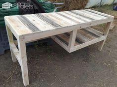Pallet Desk With Integrated Shelf Pallet Desks & Pallet Tables