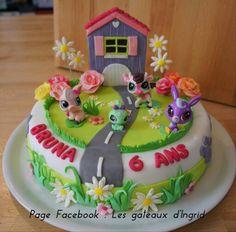 """Petshop cake Cree par : """" Les gateaux d Ingrid """" ( facebook"""