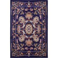 Unique Loom Navy Blue Area Rug for sale online Navy Blue Area Rug, Blue Area Rugs, Damask Rug, Dining Room Paint Colors, Area Rugs For Sale, Square Rugs, Blue Bedding, Blue Square, Traditional Rugs