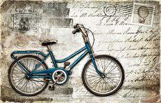 JF_0092_GR1 Cuadro Bici AZUl en postal plateada