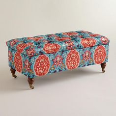 One of my favorite discoveries at WorldMarket.com: Rectangular Medallion Lucille Ottoman $269.99.  Well, I reckon a reclaimed pallet, wadding and work and we got it !