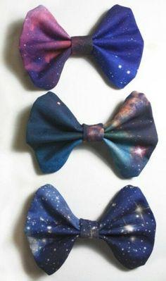 galaxy hair bows