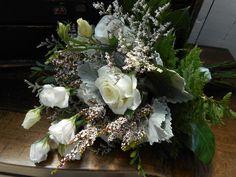 Stunning Bridal Bouquet #orangevilleflorist #gardenroses #lissy #freesia #local #weddingflowers