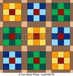 9 Patch Quilt Seamless Background - csp4162718