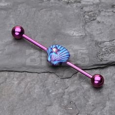 Concha Barbell Industrial de Ariel por BM25Jewelry en Etsy
