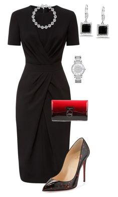 Steels featuring moda, Jaeger, Christian Louboutin, Kobelli y Michael Kors Mode Outfits, Dress Outfits, Fashion Dresses, Dress Shoes, Classy Outfits, Casual Outfits, Black Outfits, Work Fashion, Fashion Tips
