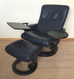 Ekornes Stressless Sessel, Saturn(Größe L), mit Hocker+ Erhöhungsring+ 2 Tischen | eBay