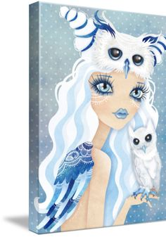 """""""Owl Duchess"""" by SANDRA VARGAS Wrapped Canvas"""