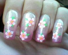 Flower nail art for miniature dishes!