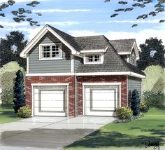 Garage Plan chp-34065 at COOLhouseplans.com