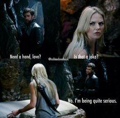 """""""Need a hand love?"""" Gotta love the hook puns! #ouat #hook"""