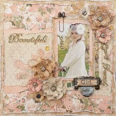 Layout: Beautiful and Sweet Girl layout for ***Cheery Lynn Designs***