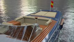 Nice rendered image of the Elite 40 showing some of the exquisit details on board such as the mahogany deck with maple inlays, the elegant beige leather with mahogany fittings on the cockpit and the nice sunbeds at the transom. Other thing to hihglight is the stainless steel fittings (oil filling points and customized cleats) giving even more the sensation of luxury.
