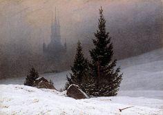 14 - Paesaggio invernale con chiesa - David Caspar Friedrich