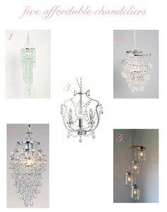 5 affordable chandeliers