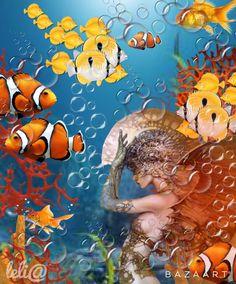 Série Fundo do Mar Peixes Cor de Laranja - Lelia  Sarda