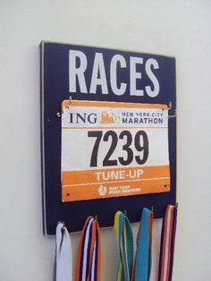 Make Race Bib/medal Displays a stylish Décor Piece