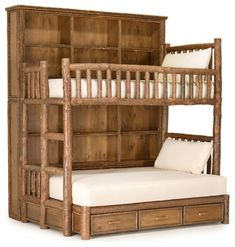 Rustic Custom Bunk Bed by La Lune Collection - rustic - beds - milwaukee - La Lune Collection