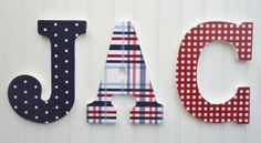 Wall Letters Nursery Wall Decor Wooden Letters Red by fabbdesigns  #munire #pinparty #MadeinUSA