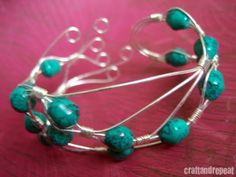 Abstract wire wrapped bracelet