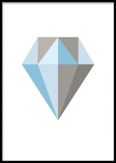 Diamantposter med grå och blå färg.