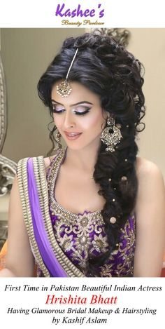 Glamorous makeup n hairstyling by kashif aslam Best Bridal Makeup, Wedding Hair And Makeup, Bridal Beauty, Hair Makeup, Indian Hairstyles, Bride Hairstyles, Hairstyle Wedding, Bollywood Makeup, Bridal Hair Inspiration