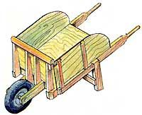 Wheelbarrow DIY Plans: This two-day do-it-yourself project for building a wheelbarrow made of sturdy wood includes detailed instructions and diagrams as well as a materials list for the project. From MOTHER EARTH NEWS magazine.