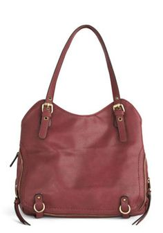All A-Bordeaux Bag. Just as youre about to leave for the station, you gather your ticket, planner, and an extra cardi, and stow them within this vegan faux-leather shoulder bag. #red #modcloth