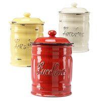 Italian ceramic sugar canisters